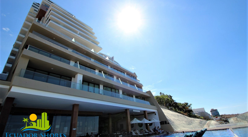 Poseidon hotel condominiums pool area beachfront for sale