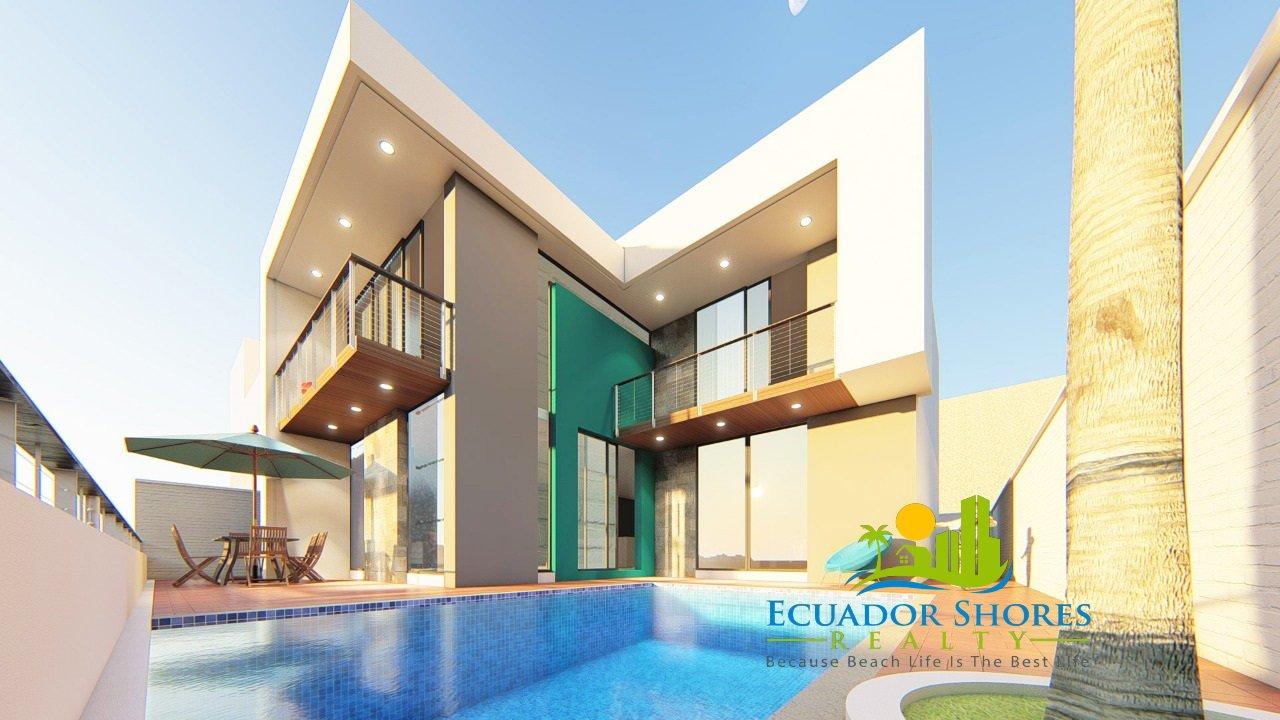 Brand new Ecuador beach home with pool!! Ecuador Real Estate