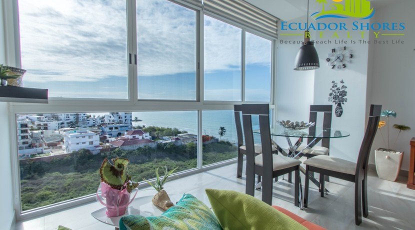 Manta Ecuador Arrecife condo 2 bedroom for sale