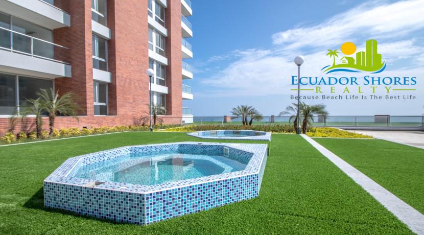 Ibiza Manta Ecuador jacuzzi area Ecuador Shores Realty condo for sale 1