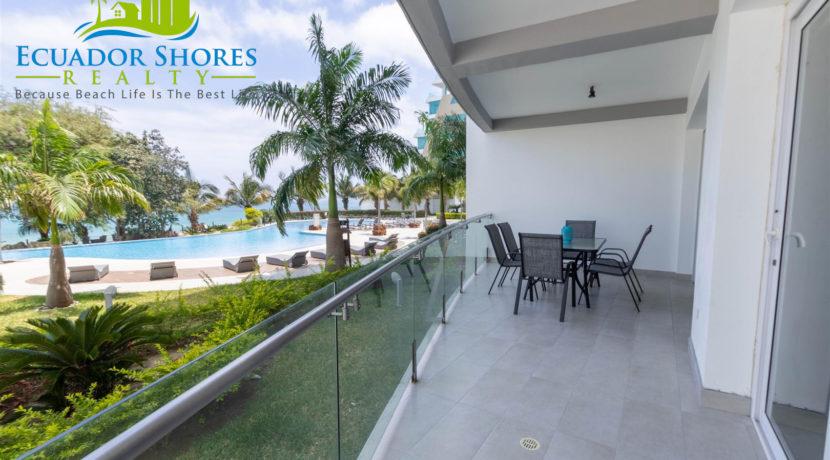Mykonos 2 bedroom furnished Manta Ecuador with Ecuador Shores Realty condo for sale 6